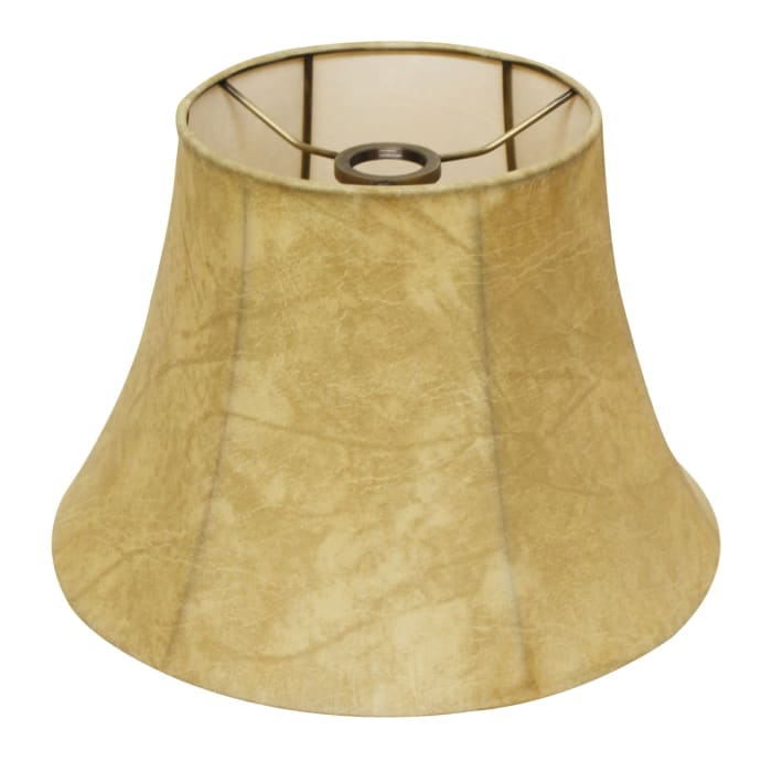 Slant Shallow Drum Softback Lampshade with Uno fitter, Faux Animal Hide