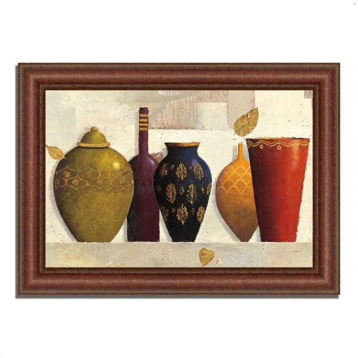 Framed Painting Print 64 In. x 45 In. Jeweled Vessels by James Wiens Multi Color