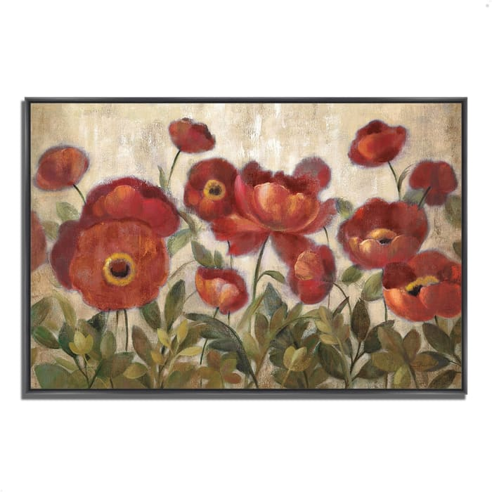 Fine Art Giclee Print on Gallery Wrap Canvas 38 In. x 26 In. Daydreaming Flowers by Silvia Vassileva Multi Color