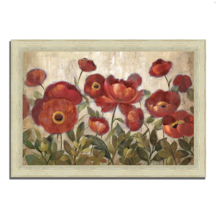 Framed Painting Print 63 In. x 44 In. Daydreaming Flowers by Silvia Vassileva Multi Color