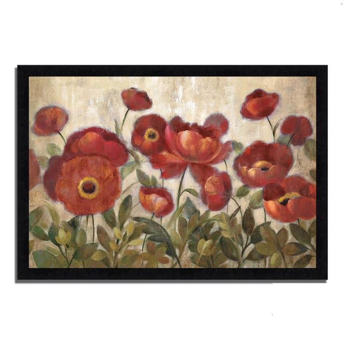 Framed Painting Print 60 In. x 41 In. Daydreaming Flowers by Silvia Vassileva Multi Color