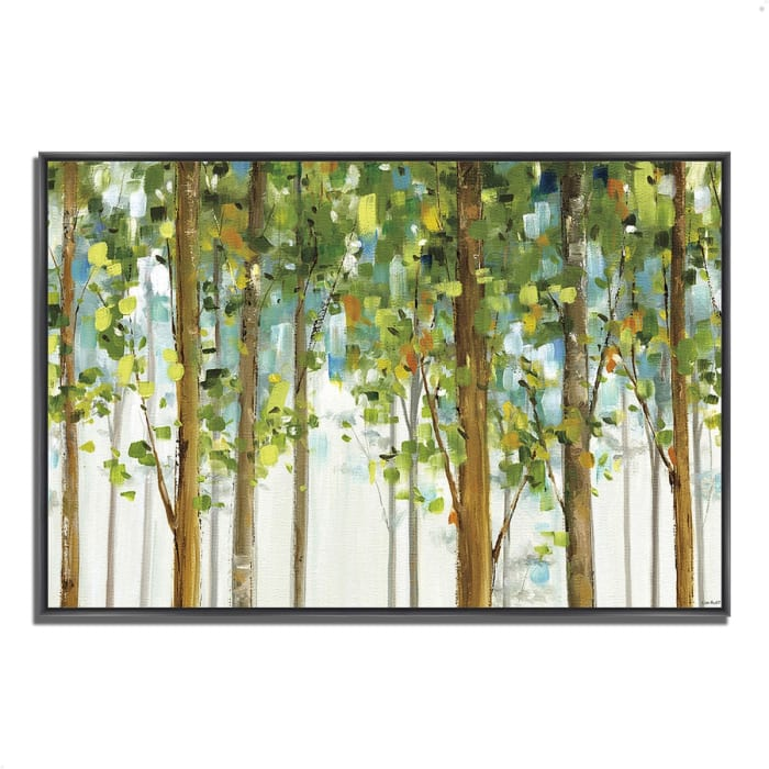 Fine Art Giclee Print on Gallery Wrap Canvas 32 In. x 22 In. Forest Study I by Lisa Audit Multi Color