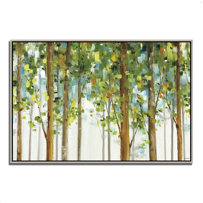 Fine Art Giclee Print on Gallery Wrap Canvas 47 In. x 32 In. Forest Study I by Lisa Audit Multi Color