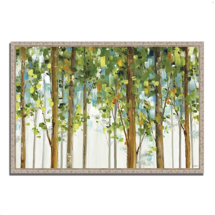 Fine Art Giclee Print on Gallery Wrap Canvas 59 In. x 40 In. Forest Study I by Lisa Audit Multi Color