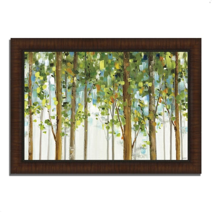 Framed Painting Print 36 In. x 26 In. Forest Study I by Lisa Audit Multi Color
