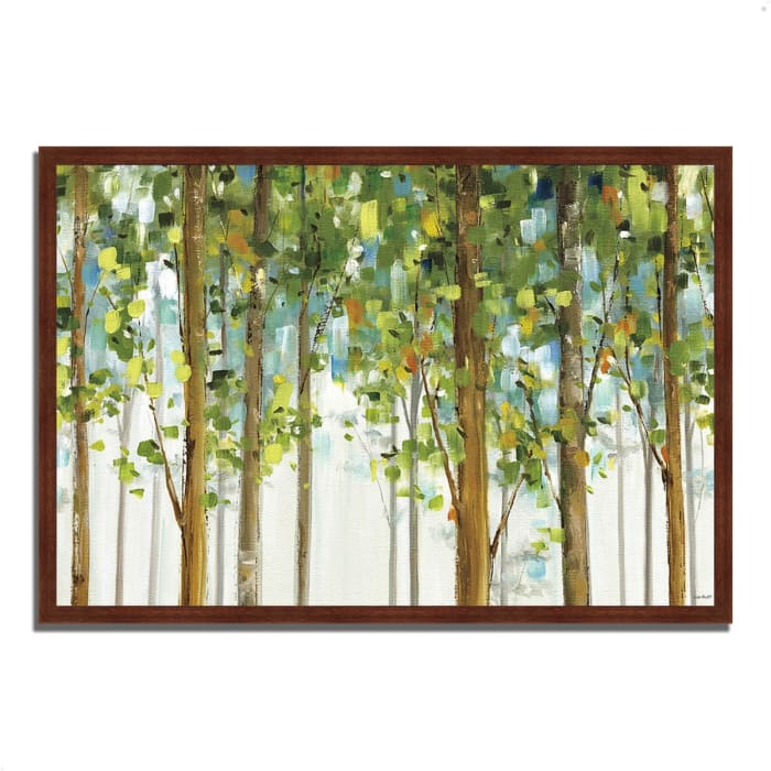 Framed Painting Print 38 In. x 26 In. Forest Study I by Lisa Audit Multi Color