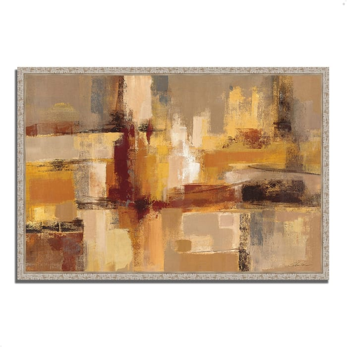 Fine Art Giclee Print on Gallery Wrap Canvas 47 In. x 32 In. Sandcastles by Silvia Vassileva Multi Color