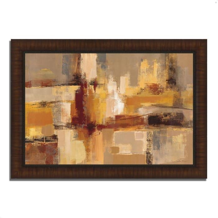 Framed Painting Print 36 In. x 26 In. Sandcastles by Silvia Vassileva Multi Color
