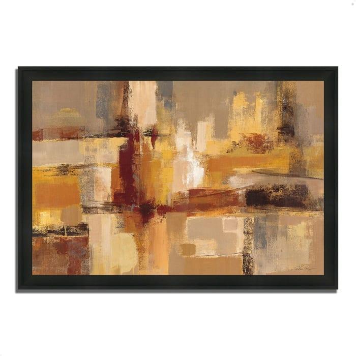 Framed Painting Print 60 In. x 41 In. Sandcastles by Silvia Vassileva Multi Color