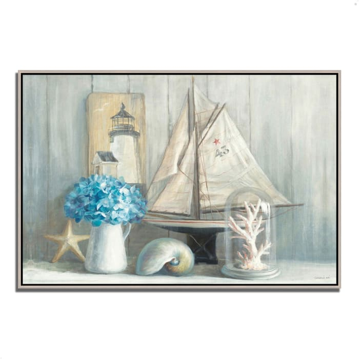 Fine Art Giclee Print on Gallery Wrap Canvas 32 In. x 22 In. Summer House by Danhui Nai Multi Color