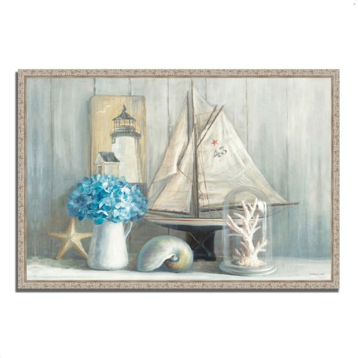 Fine Art Giclee Print on Gallery Wrap Canvas 47 In. x 32 In. Summer House by Danhui Nai Multi Color