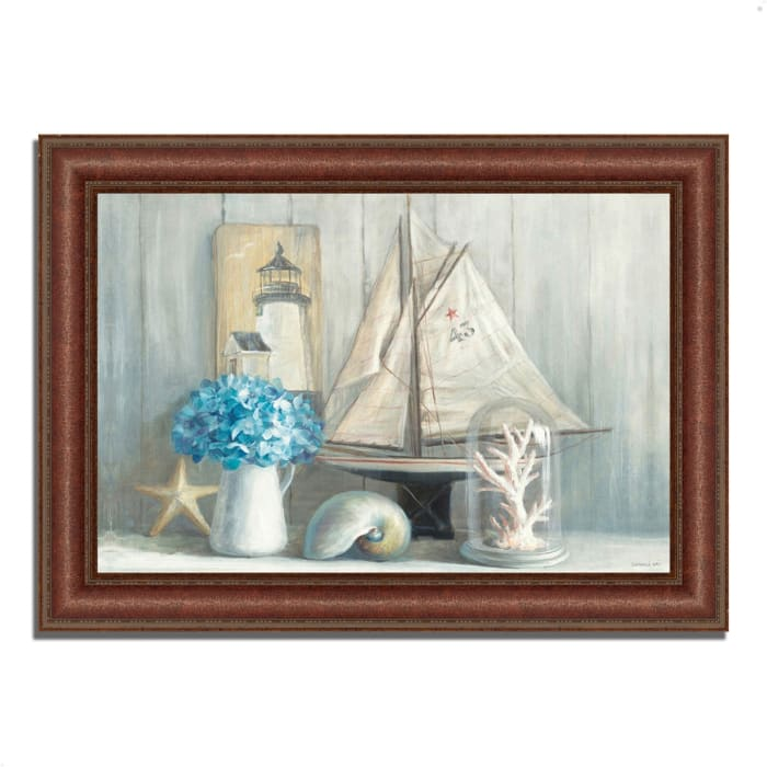 Framed Painting Print 43 In. x 31 In. Summer House by Danhui Nai Multi Color