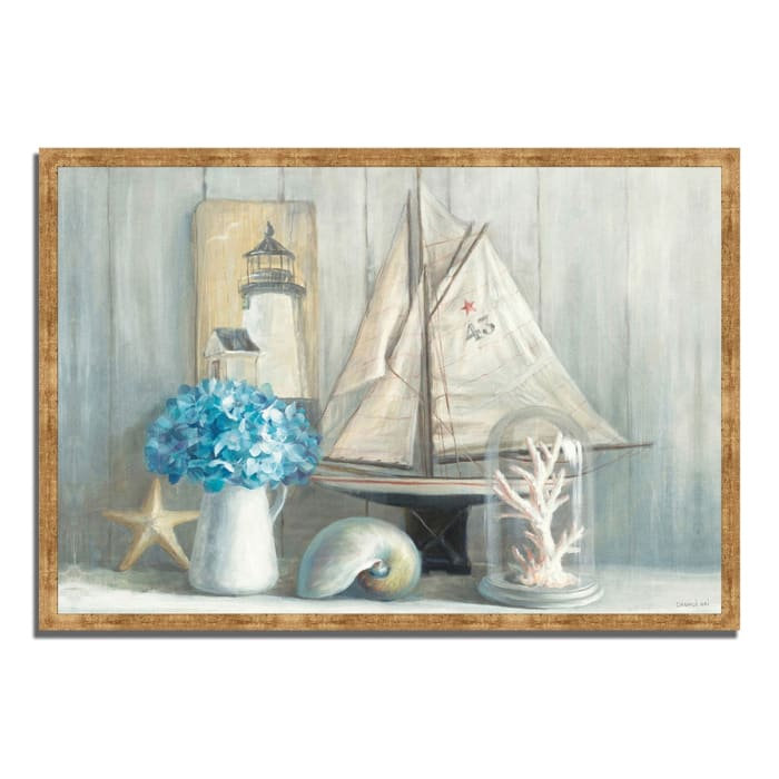 Framed Painting Print 47 In. x 32 In. Summer House by Danhui Nai Multi Color