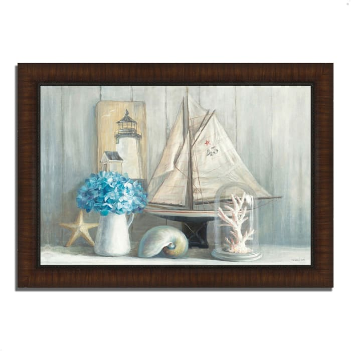 Framed Painting Print 42 In. x 30 In. Summer House by Danhui Nai Multi Color