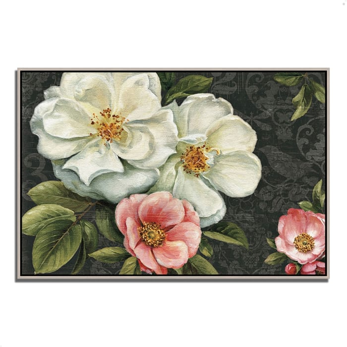 Fine Art Giclee Print on Gallery Wrap Canvas 47 In. x 32 In. Floral Damask I  by Lisa Audit Multi Color