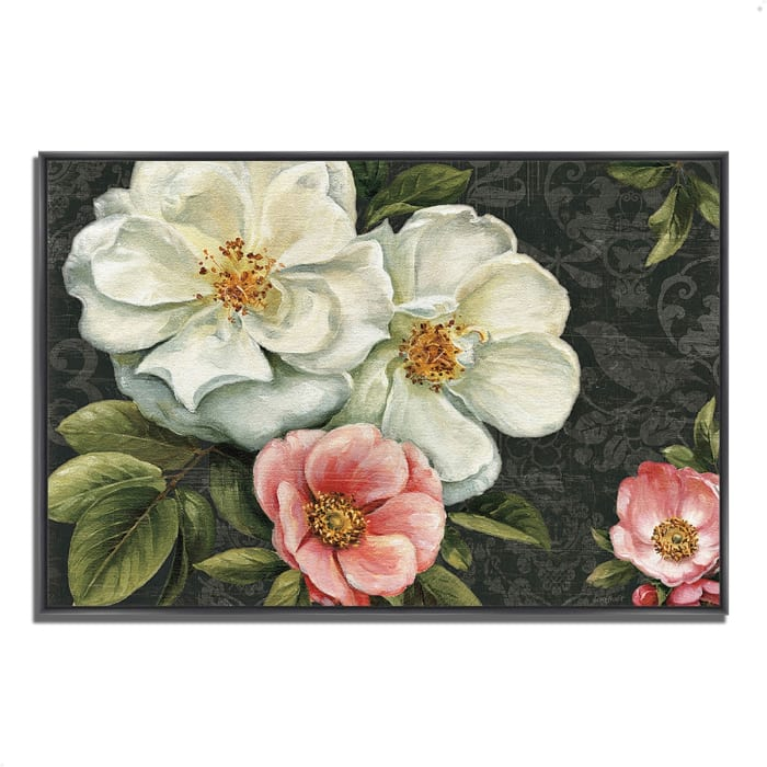 Fine Art Giclee Print on Gallery Wrap Canvas 32 In. x 22 In. Floral Damask I  by Lisa Audit Multi Color