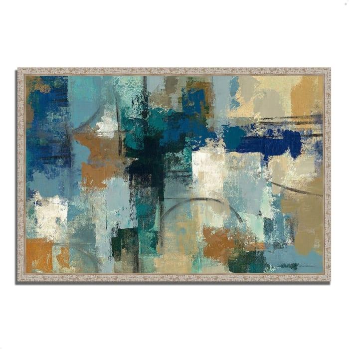 Fine Art Giclee Print on Gallery Wrap Canvas 47 In. x 32 In. Jasper Lagoon by Silvia Vassileva Multi Color