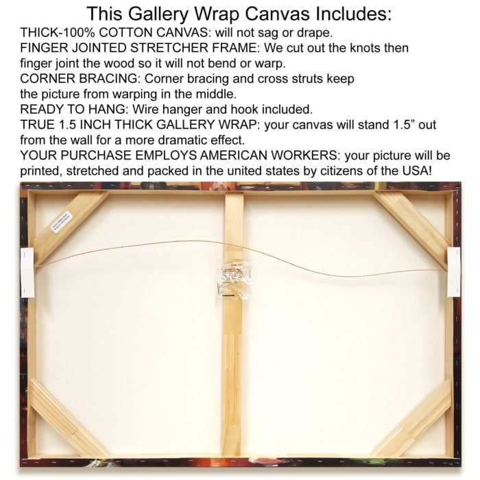 Fine Art Giclee Print on Gallery Wrap Canvas 38 In. x 26 In. Jasper Lagoon by Silvia Vassileva Multi Color