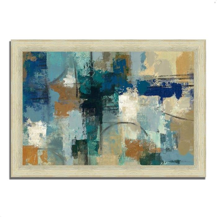 Framed Painting Print 36 In. x 26 In. Jasper Lagoon by Silvia Vassileva Multi Color
