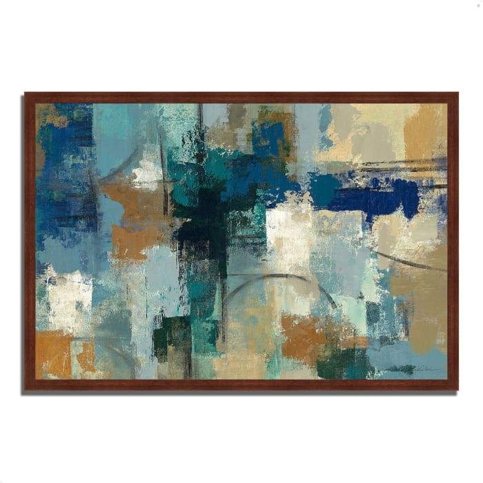 Framed Painting Print 38 In. x 26 In. Jasper Lagoon by Silvia Vassileva Multi Color