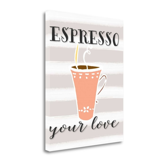 Fine Art Giclee Print on Gallery Wrap Canvas 16 In. x 20 In. Espresso Your Love By Tara Moss Multi Color