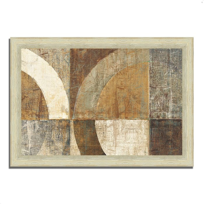 Framed Painting Print 51 In. x 36 In. Circular Sculpture by Wild Apple Portfolio Multi Color