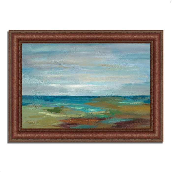 Framed Painting Print 52 In. x 37 In. Wispy Clouds by Silvia Vassileva Multi Color