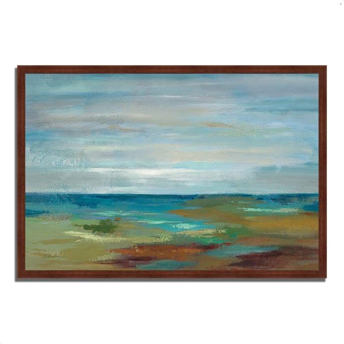 Framed Painting Print 32 In. x 22 In. Wispy Clouds by Silvia Vassileva Multi Color