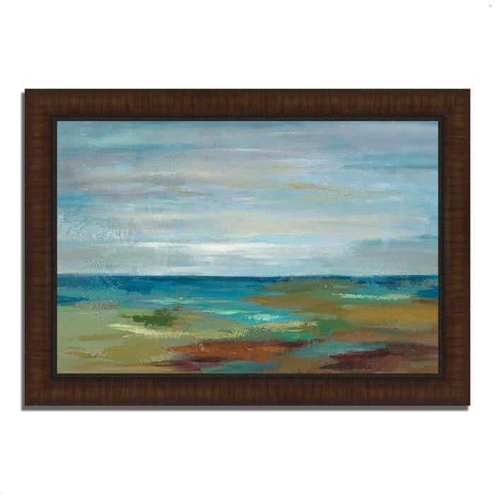 Framed Painting Print 36 In. x 26 In. Wispy Clouds by Silvia Vassileva Multi Color