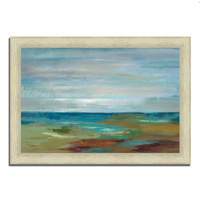 Framed Painting Print 42 In. x 30 In. Wispy Clouds by Silvia Vassileva Multi Color