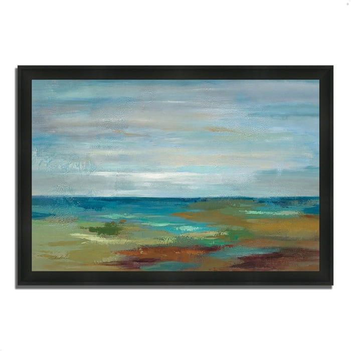 Framed Painting Print 33 In. x 23 In. Wispy Clouds by Silvia Vassileva Multi Color
