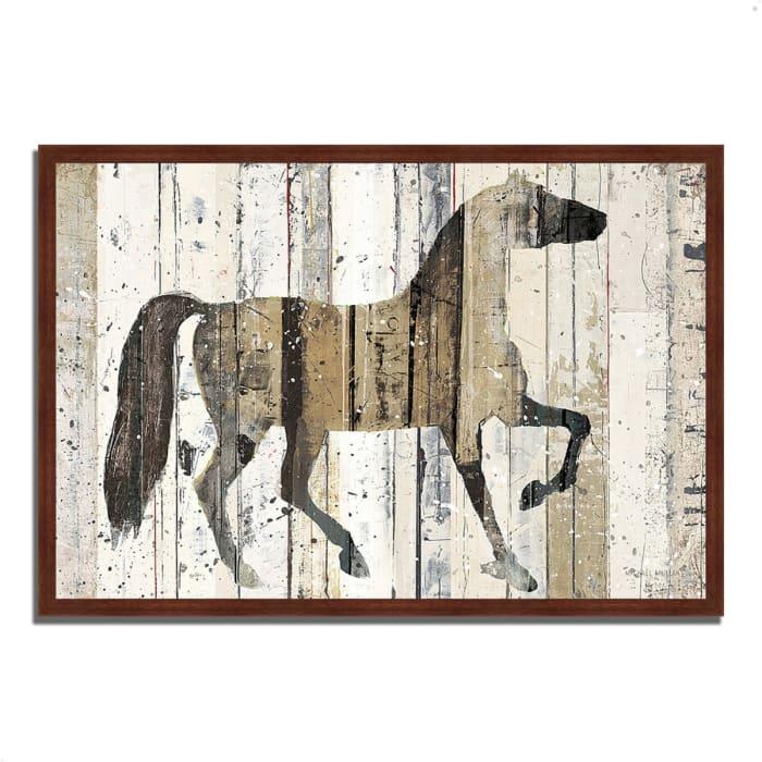 Framed Painting Print 32 In. x 22 In. Dark Horse by Michael Mullan Multi Color
