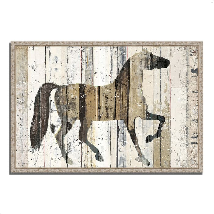 Fine Art Giclee Print on Gallery Wrap Canvas 59 In. x 40 In. Dark Horse by Michael Mullan Multi Color