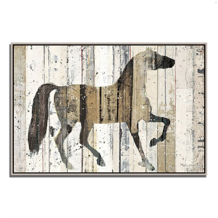 Fine Art Giclee Print on Gallery Wrap Canvas 47 In. x 32 In. Dark Horse by Michael Mullan Multi Color