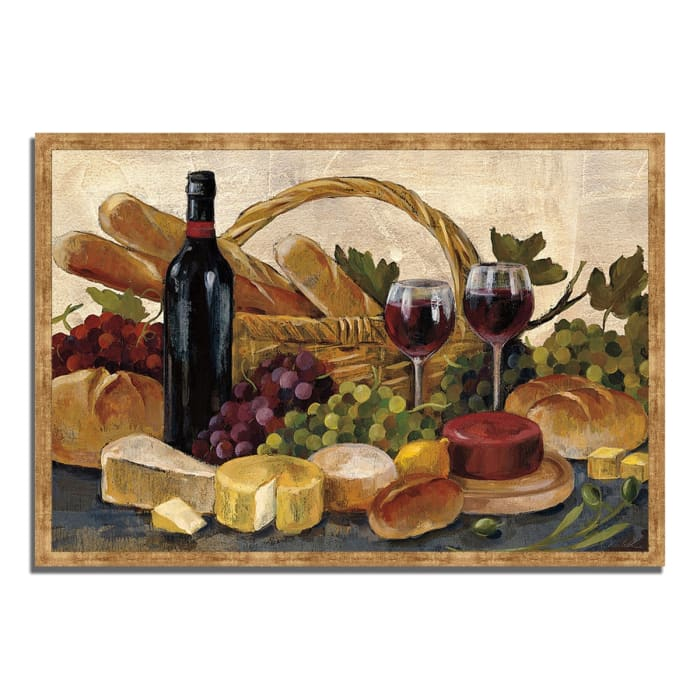 Framed Painting Print 47 In. x 32 In. Tuscan Evening Wine by Silvia Vassileva Multi Color