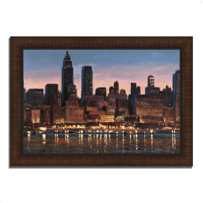Framed Painting Print 42 In. x 30 In. Manhattan Reflection by James Wiens Multi Color