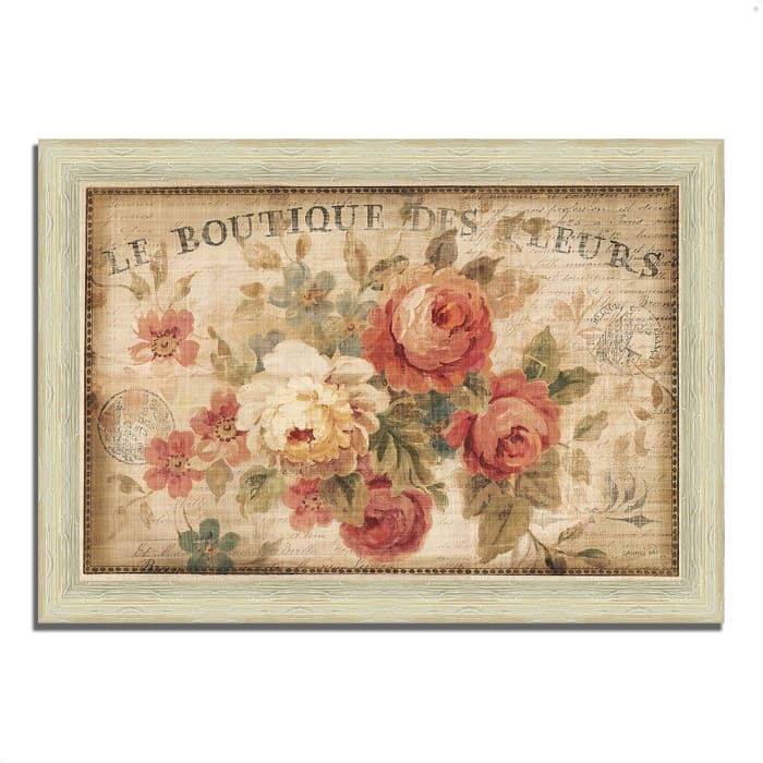 Framed Painting Print 42 In. x 30 In. Parisian Flowers III by Danhui Nai Multi Color