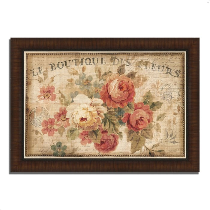 Framed Painting Print 36 In. x 26 In. Parisian Flowers III by Danhui Nai Multi Color