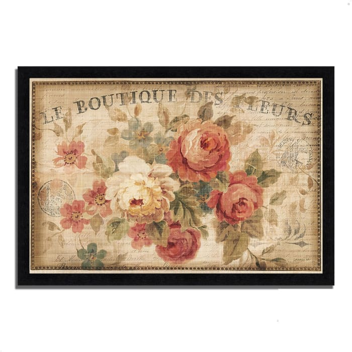 Framed Painting Print 60 In. x 41 In. Parisian Flowers III by Danhui Nai Multi Color