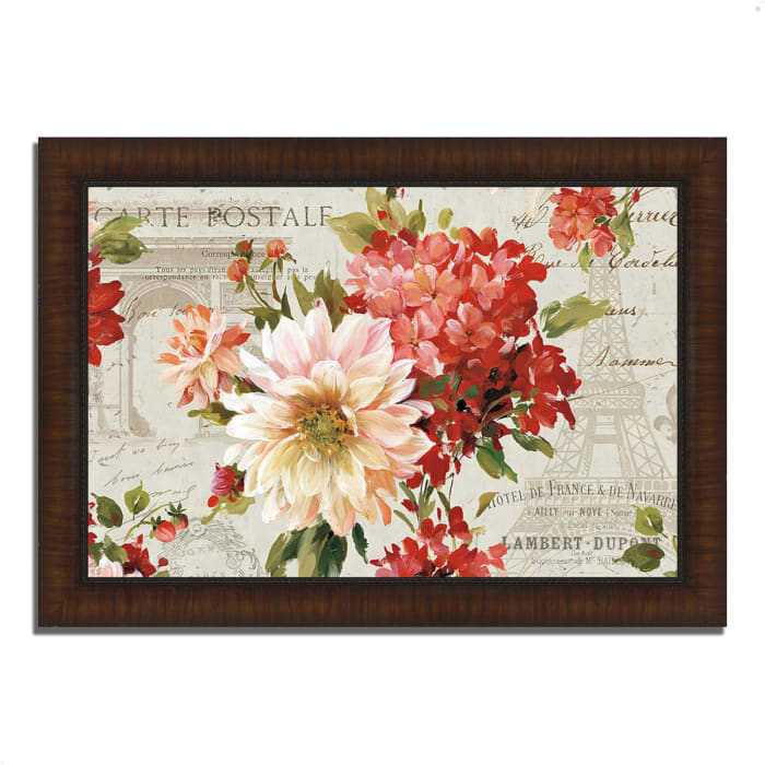 Framed Painting Print 42 In. x 30 In. PS Je Taime I Light by Lisa Audit Multi Color