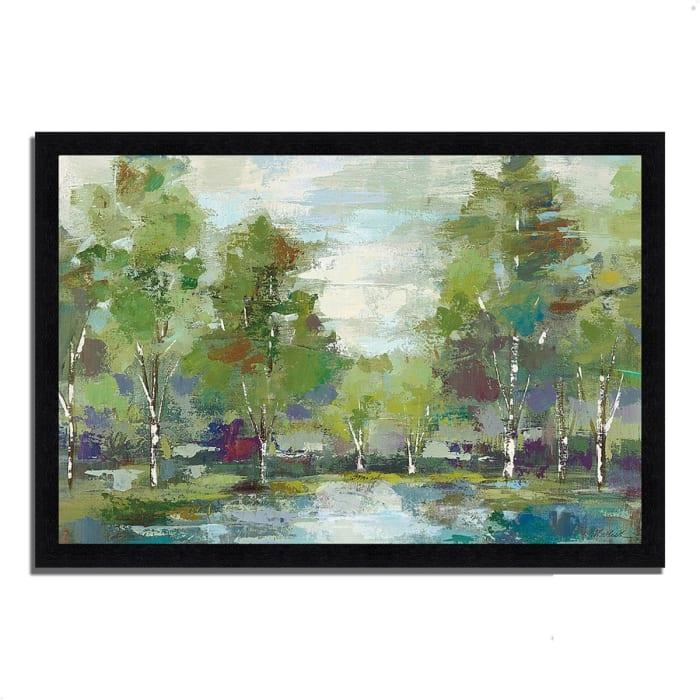 Framed Painting Print 39 In. x 27 In. Forest at Dawn by Silvia Vassileva Multi Color