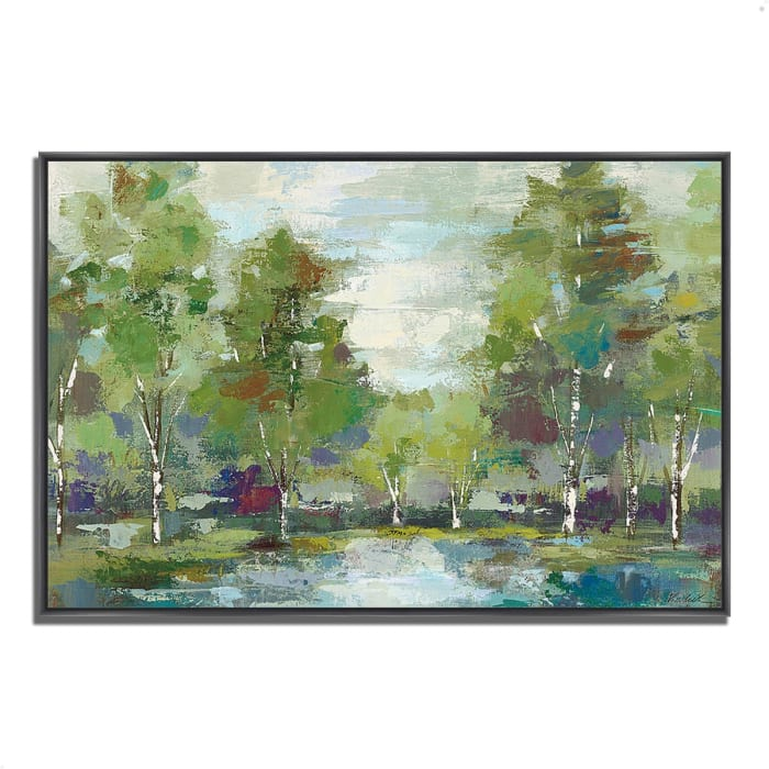 Fine Art Giclee Print on Gallery Wrap Canvas 38 In. x 26 In. Forest at Dawn by Silvia Vassileva Multi Color
