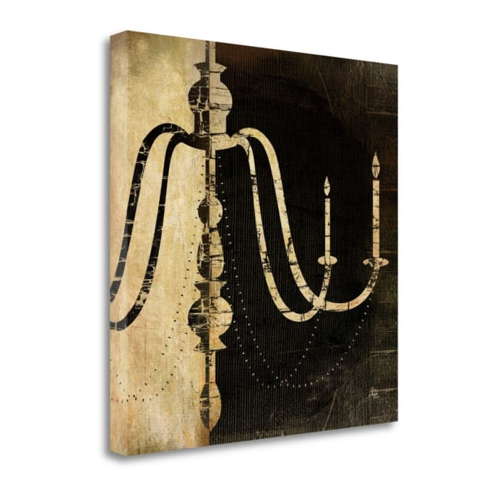 Giclee on Gallery Wrap Canvas 20 In. x 20 In. Black And White Chandelier II By Jennifer Pugh Multi Color