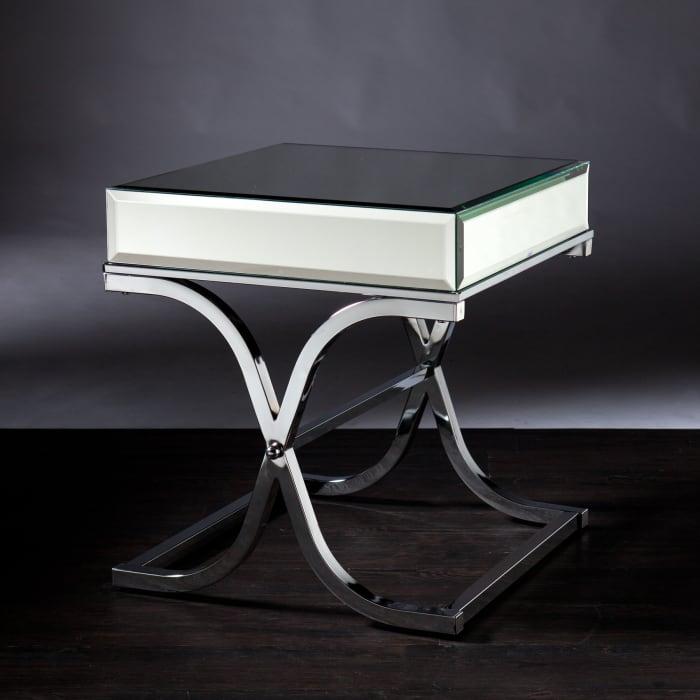 Shefford Mirrored End Table - Chrome