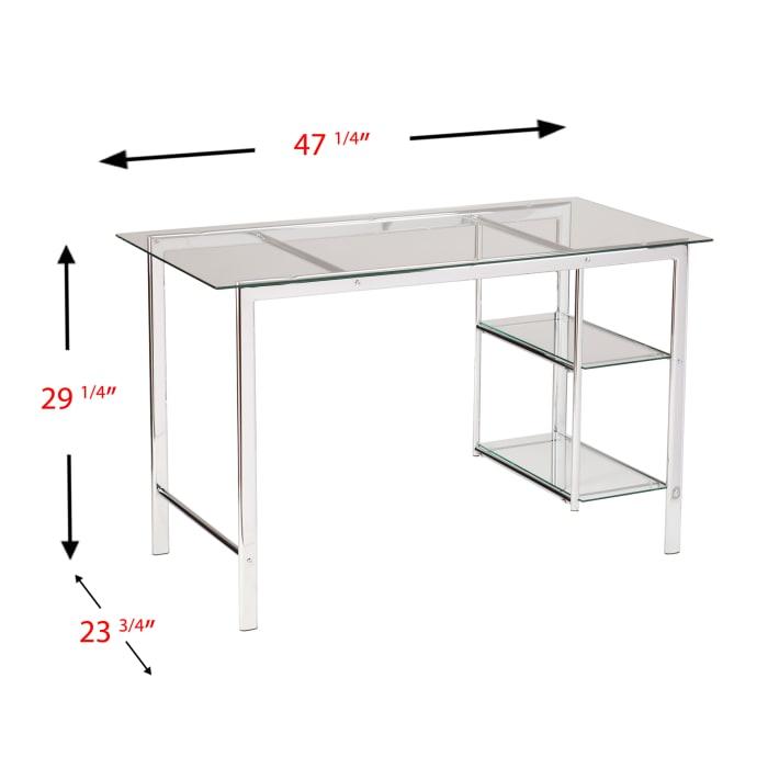 Germain  Chrome/Glass Desk