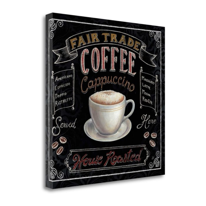 Morning Treat Square I Coffee Wrapped Canvas Wall Art