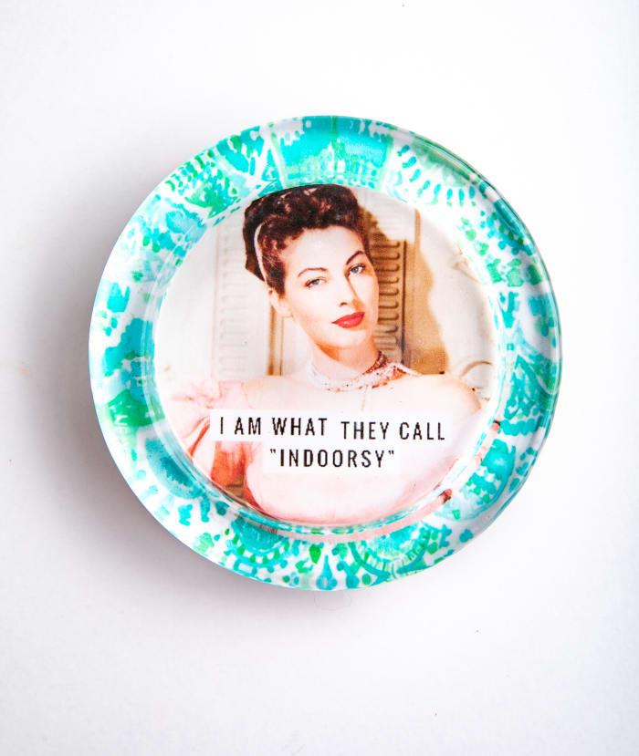Indoorsy Ava Blue Recycled Glass Coaster