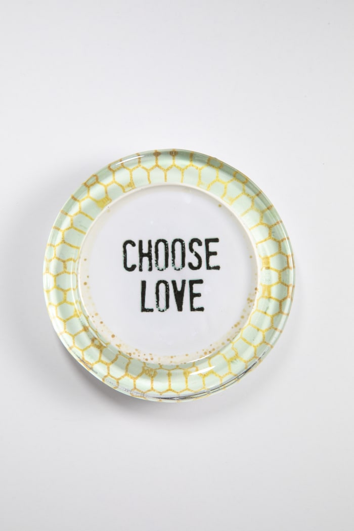 Choose Love Recycled Glass Coaster