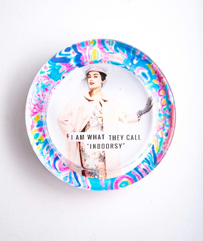 Iindoorsy Colorful Recycled Glass Coaster