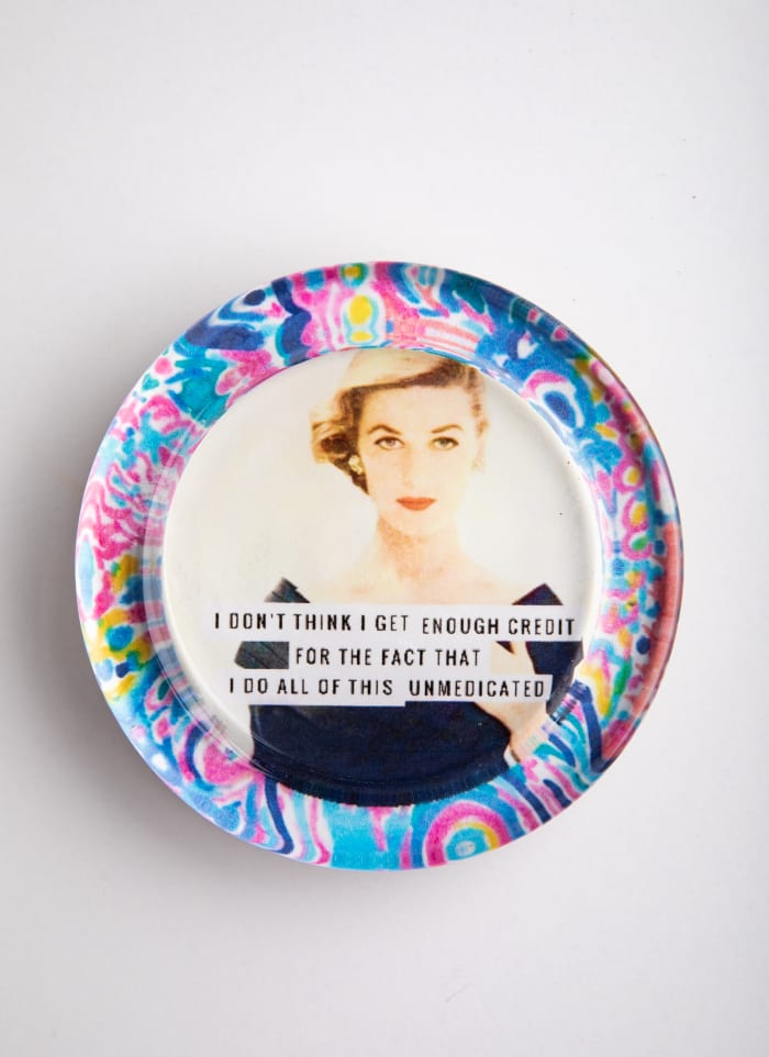 Unmedicated Floral Recycled Glass Coaster